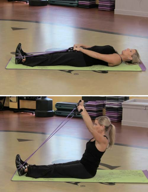 Best Full Body Resistance Band Exercises - Resistance Band Sit-ups