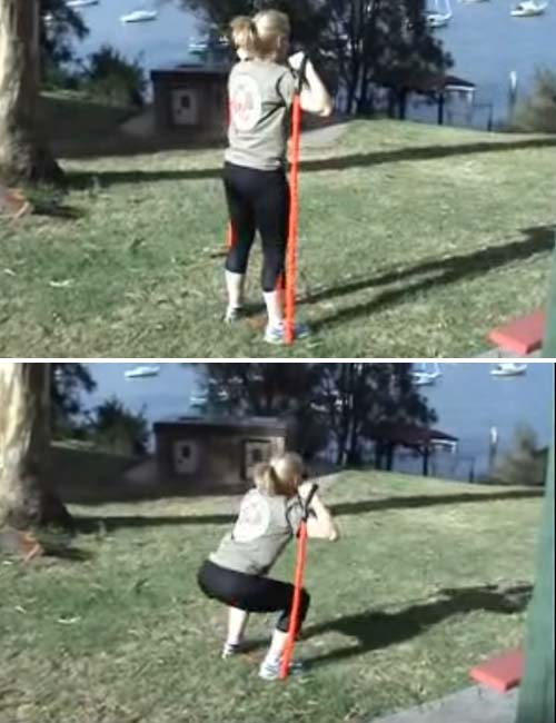Best Full Body Resistance Band Exercises - Resistance Band Squats
