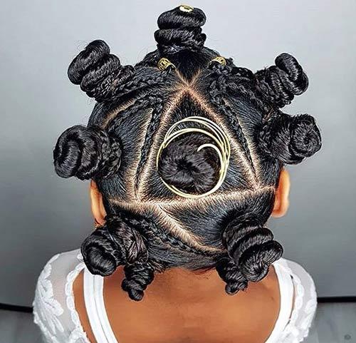1. Braided Triangular Bantu Knots
