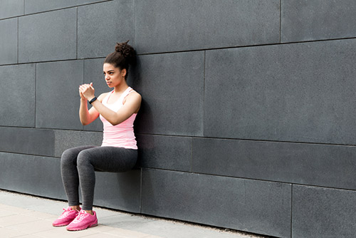 Exercises For Lower Back Pain - Wall Sits