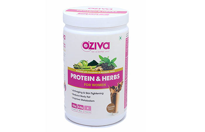 10. Oziva Proteins and Herbs for Women