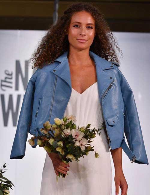 10. Sky Blue Leather Jacket