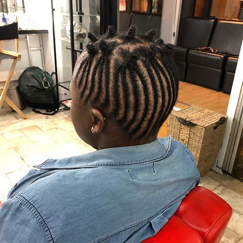 Best Bantu Knots Hairstyles - Small Braided Bantu Knots