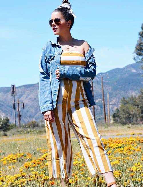 Denim Jackets For Women - Summery Jumpsuit And Denim Jacket