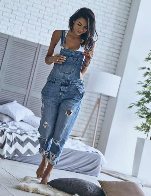 Overall Outfit Ideas - Torn Overall Dress