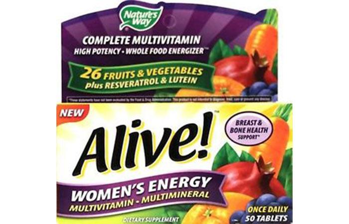 Best Multivitamins For Women - Alive Multivitamin – Multimineral Women's Energy
