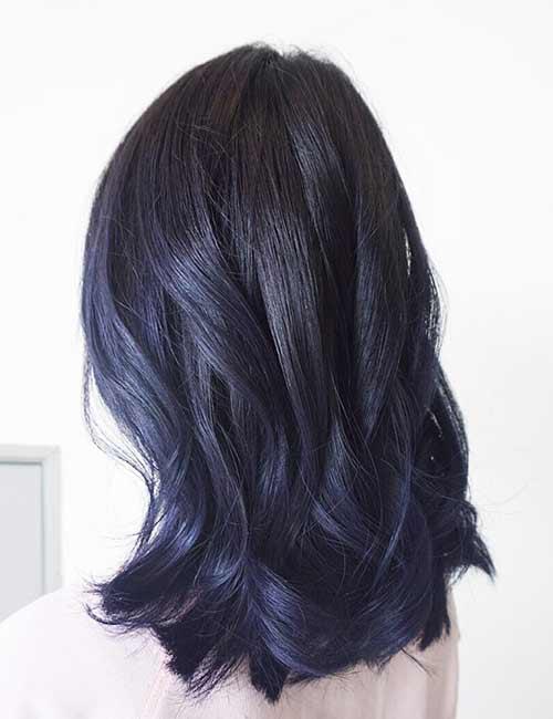 12.Purple Blue Black Hair