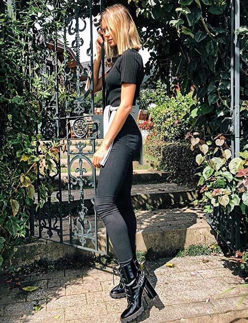 How To Wear Combat Boots - Skinny Jeans And Combat Boots