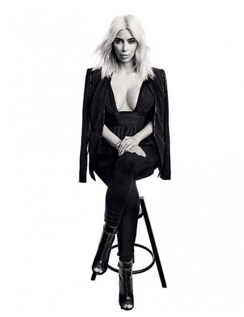 13. Kim Kardashian Leather Jacket