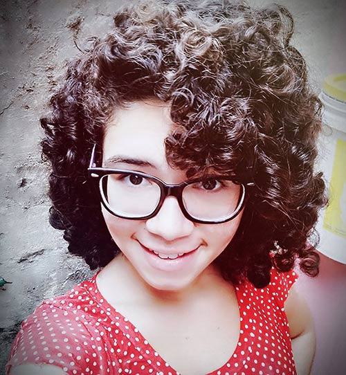 Curly Hairstyles With Bangs - Messy Short Curls