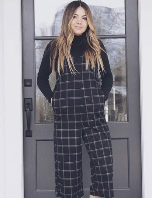 Overall Outfit Ideas - Striped Overall Dress