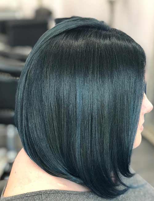 15. Tealish Blue-Black Hair