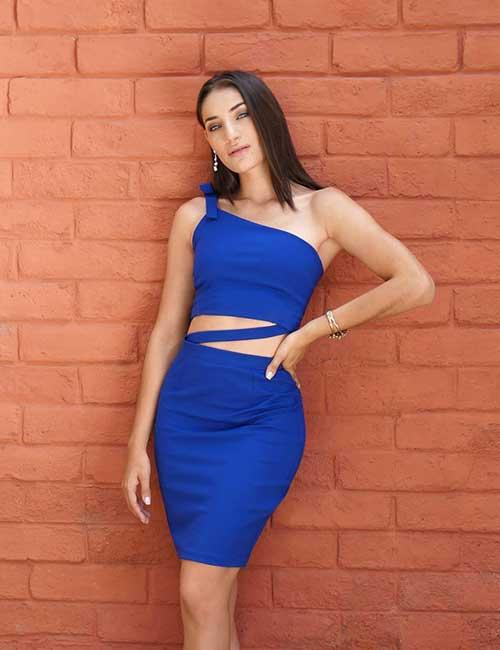 16. Blue Pencil Skirt Dress