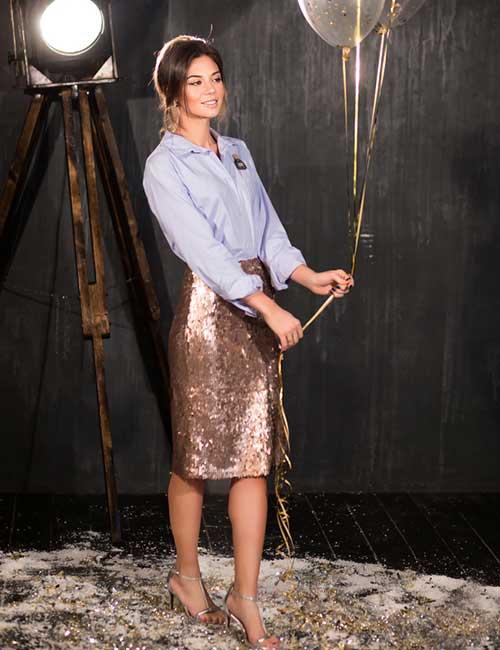 19. Sequin Pencil Skirt