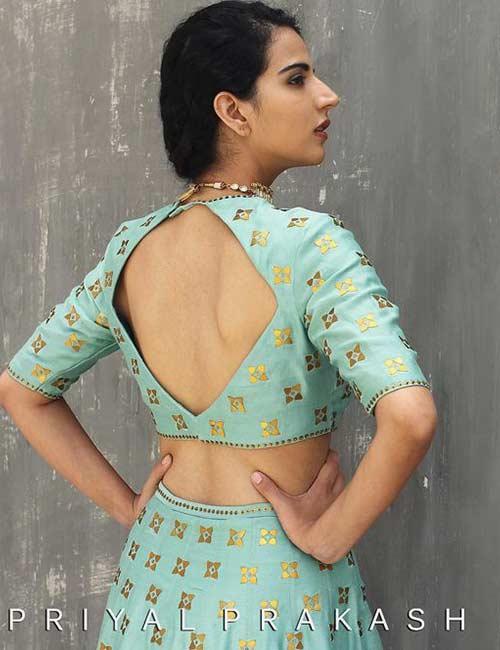 How To Wear A Lehenga - Backless Lehenga Choli
