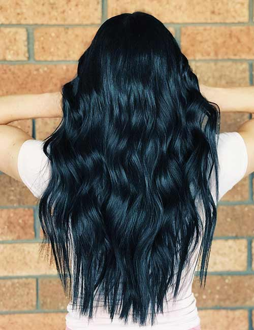20 Amazing Blue Black Hair Color Looks