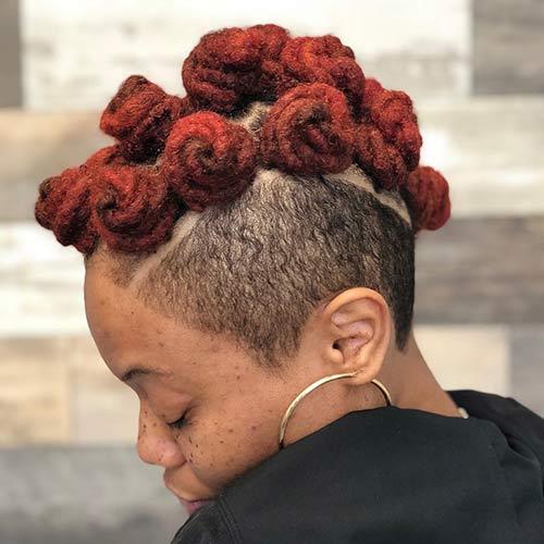 Best Bantu Knots Hairstyles - Faux Tri Bantu Knot Mohawk