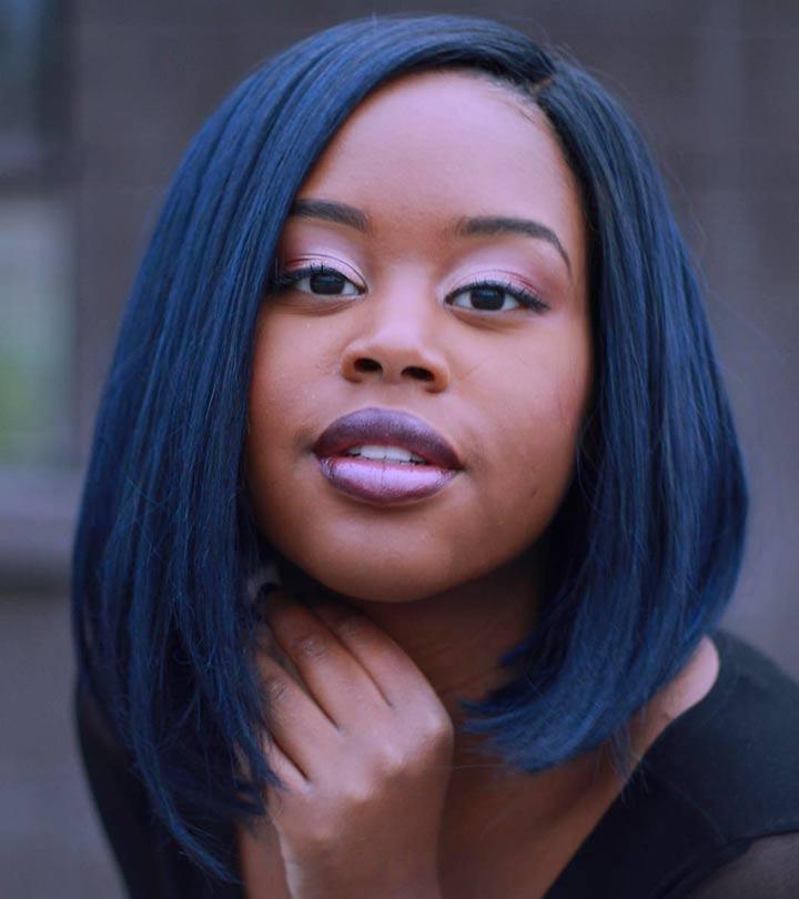 20 Amazing Blue Black Hair Color Looks