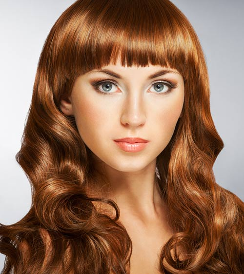 Curly Hairstyles With Bangs - Curled-in Hair