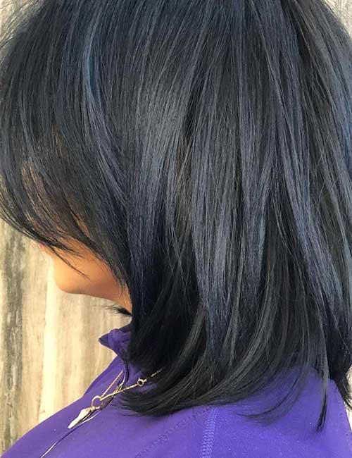 20.Denim Blue Black Hair