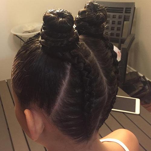 Best Bantu Knots Hairstyles - Reverse Braided Bantu Knots