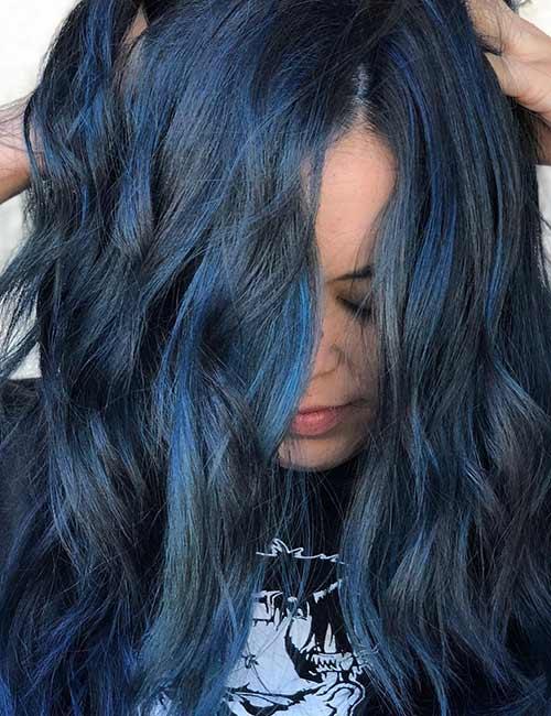 3. Light Blue-Black Hair