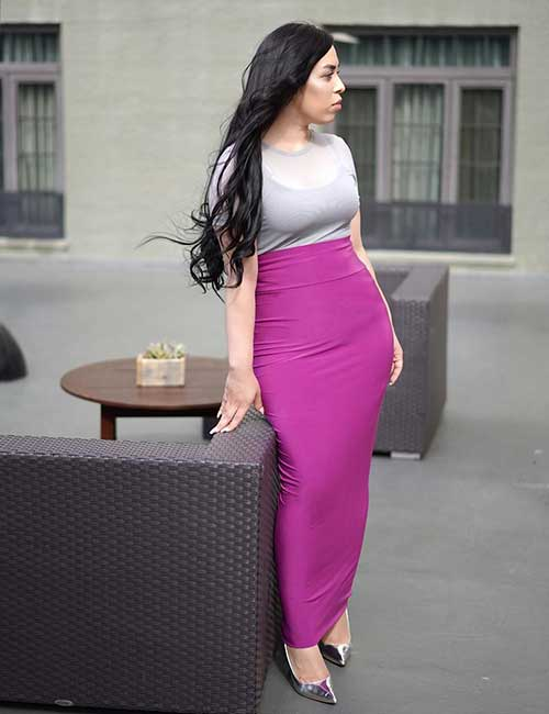 3. Long Pencil Skirt