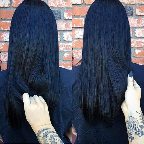 Deep Blue Black Hair