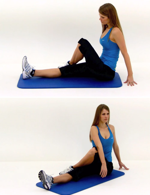 Exercises For Lower Back Pain - Seated Torso Twist