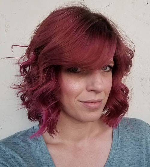 Short Curly Hair With Bangs And Layers 57