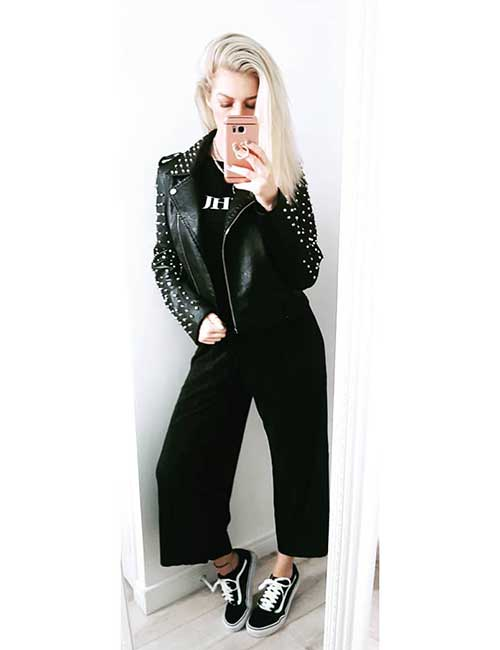 How To Wear A Leather Jacket - Leather Jacket With Embellishments