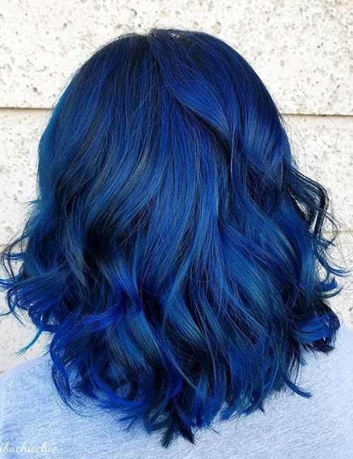 6. Mixed Blue Black Hair