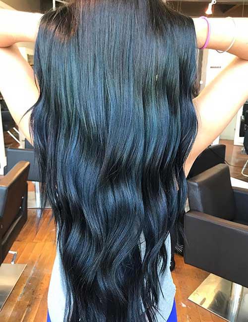 7. Metallic Blue And Black