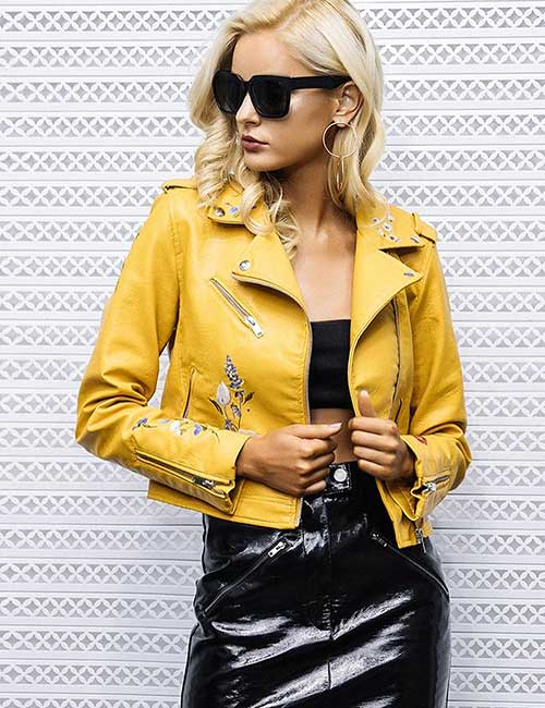 How To Wear A Leather Jacket - Yellow Leather Jacket