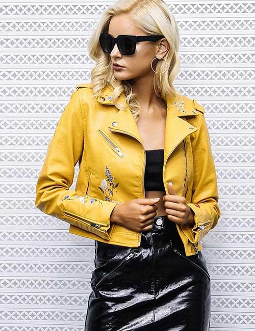 7. Yellow Leather Jacket