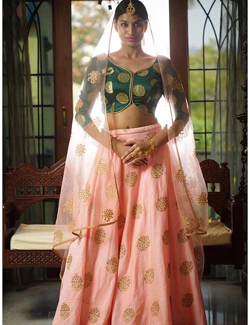 How To Wear A Lehenga - Princess Cut Choli And Skirt