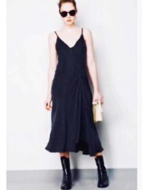 8. Slip Dress With Combat Boots