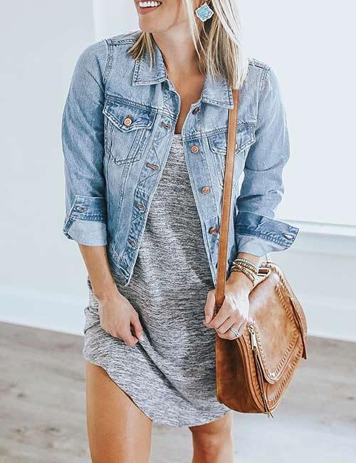 8. T-Shirt Dress And Jean Jackets