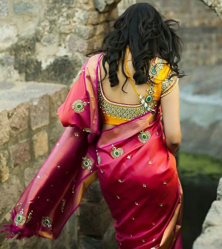 Stone Work Designs In Clothes | 9 Stunning Stonework Blouse Designs