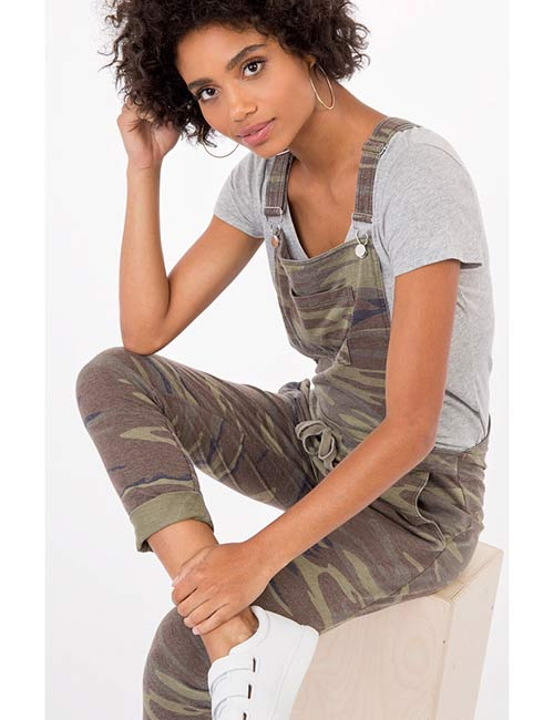 Overall Outfit Ideas - Camo Overall Dress