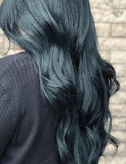 9. Dark Icy Blue Hair