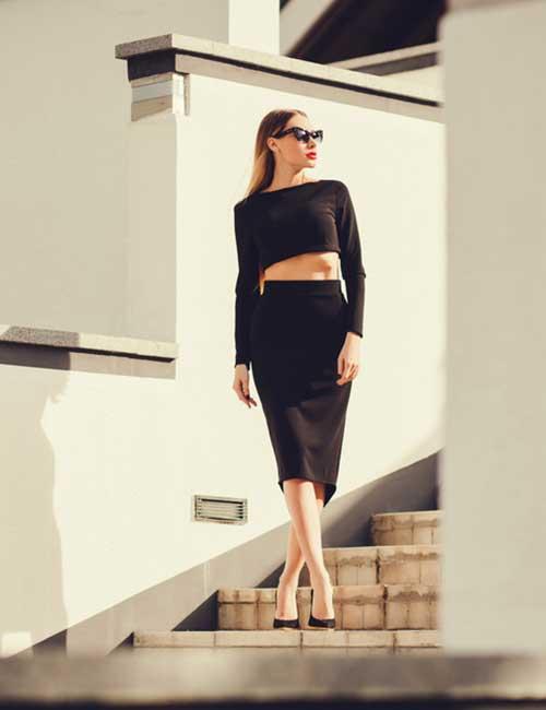 9. Pencil Skirt And Crop Top