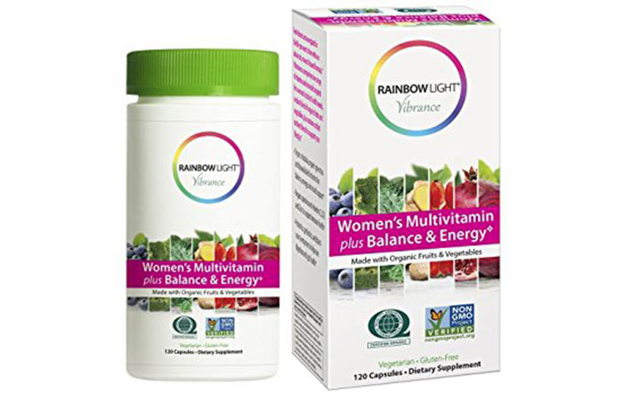 9. This multivitamin contains 1,076 mg of certified organic mixture of fruits and vegetables - including acai, pomegranate, blueberry, spirulina, cabbage, broccoli and beet </a> </p> <p>  </em> </strong>  </p> <p>  Supports energy metabolism and strengthens the immune system . </p> <p>  Quite expensive compared to other multivitamins </p> <p>  You can buy it <a href=