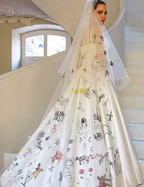 Best Celebrity Wedding Dresses - Angelina Jolie