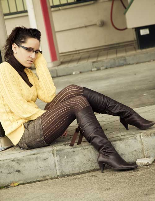 Ankle Length Boots And Leggings