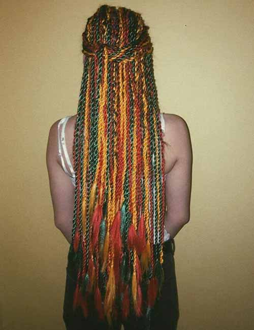 Colored Hair Extensions And Tassels