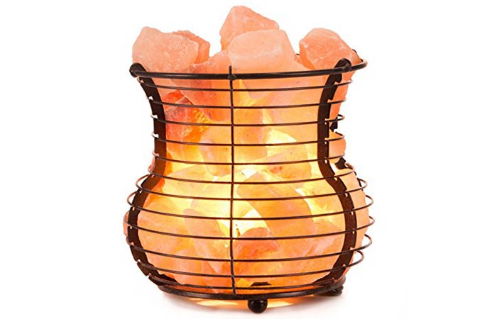 Crystal Allies Gallery Himalayan Salt Lamp (Wire Mesh)