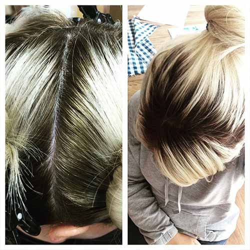 Dark Blondes Roots With Platinum Ends