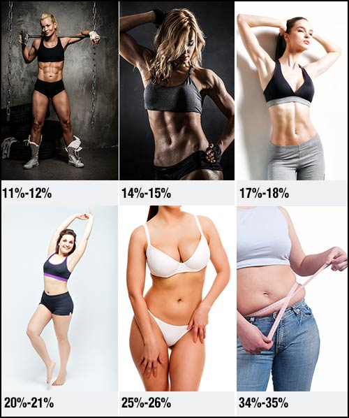How Your Body Looks Depending On Your Body Fat