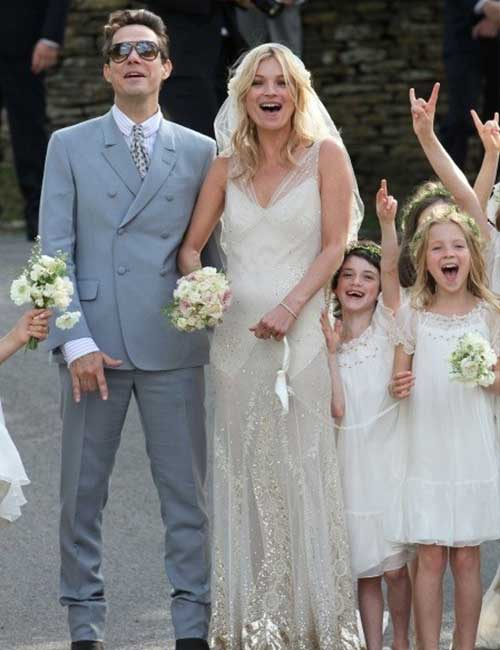 Best Celebrity Wedding Dresses - Kate Moss